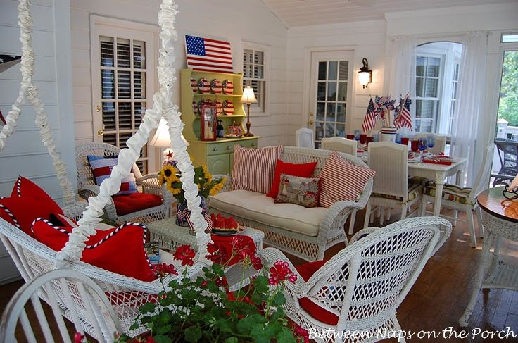 fourth of july porch decorations