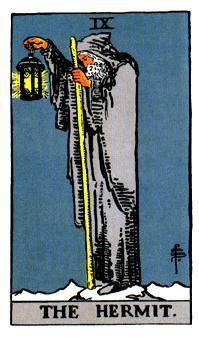 EL ERMITAÑO, Significado de las cartas del Tarot