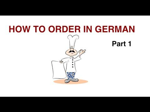 How to order in a German restaurant? PART 1