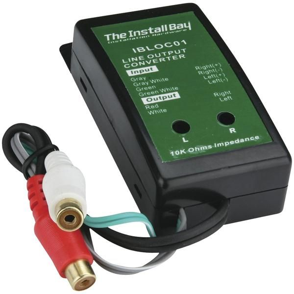 Install Bay Ibloc01 2 Channel 40 Watt Adjustable Level Converter In 2020 Converter Installation Channel