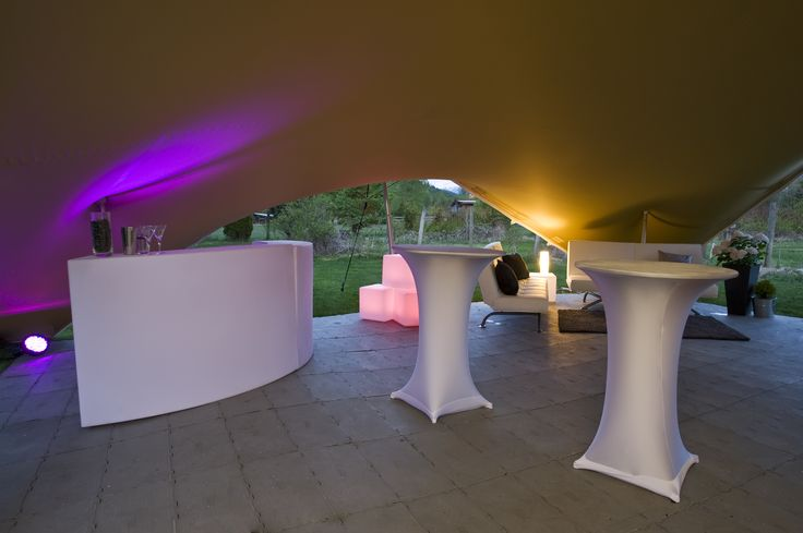 White Cocktail tables