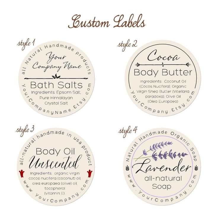 Free Printable Bath Bomb Tag Templates: Pre-designed Personalized Labels 60-pk