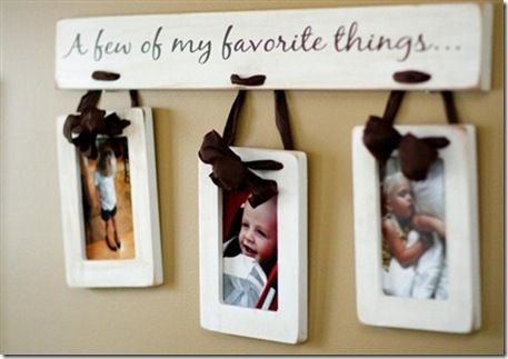I love this!Crafts Ideas, Grandparents Gift, Wall Hanging, Favorite Things, Pictures Display, Gift Ideas, Cute Ideas, Picture Frames, Pictures Frames