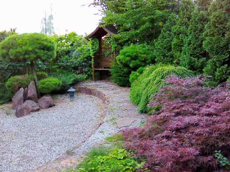 Ogrody Kielce. Ogród przydomowy w stylu ogrodu japońskiego. Projektowanie ogrodów Kielce
