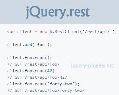 jQuery.rest – jQuery Plugin for RESTful APIs #API #jQuery #RESTfulAPI #RESTful #rest