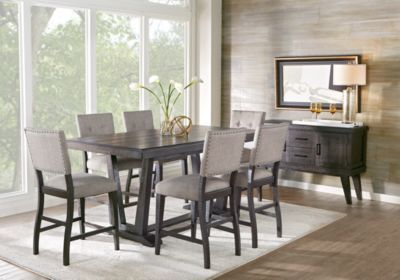 Hill Creek Black 5 Pc Counter Height Dining Room. $877.00. Find affordable Dining Room Sets for your home that will complement the rest of your furniture.