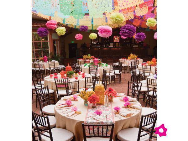 Bodas estilo mexicano decoraci n de boda mexicana for Decoracion mexicana