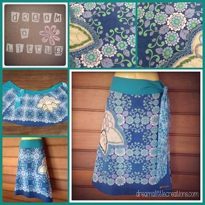 Beautiful vintage tablecloth and doily transformed into this lovely size 12/14 ladies wrap skirt Anything Goes Market 22nd April, 2014