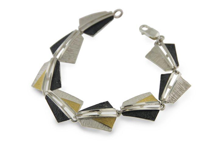 Bracelet silver and gold  Audar collection Ref.20B1859 www.enrictorres.com