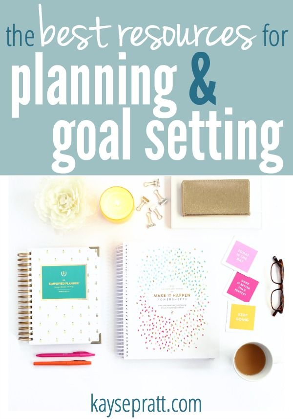 The best resources for making what matters actually happen! Our favorites for planning, goal setting, and keeping daily routines.