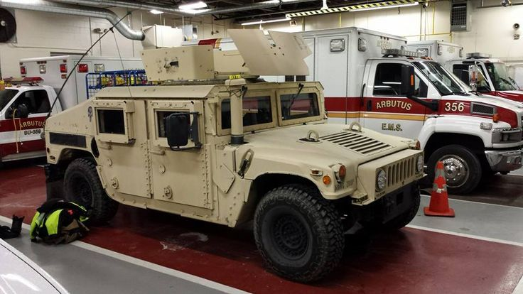 A Humvee at Arbutus Volunteer Fire Station in Baltimore County to Assist Arbutus Volunteer Firefighters and the Baltimore County Fire Department with Calls During the Blizzard here in Maryland