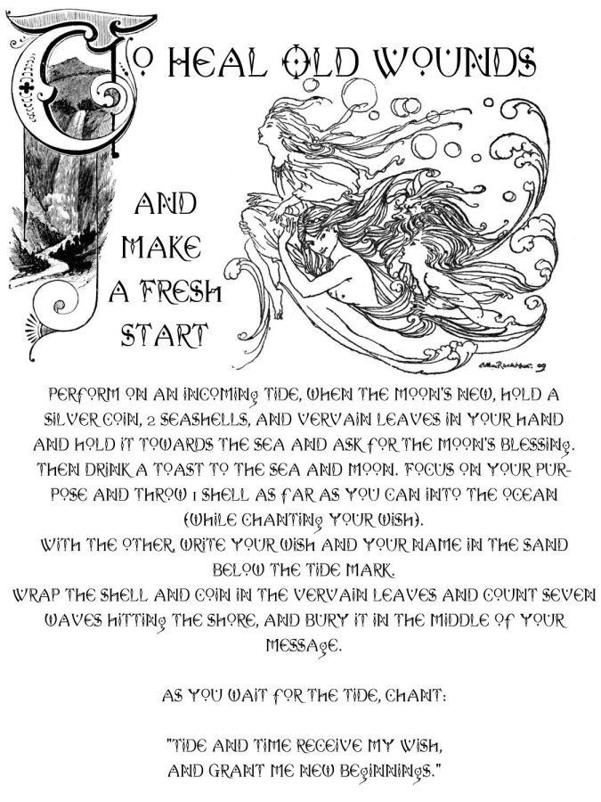Magick Spells:  To Heal Old Wounds and Make a Fresh Start #Spell.
