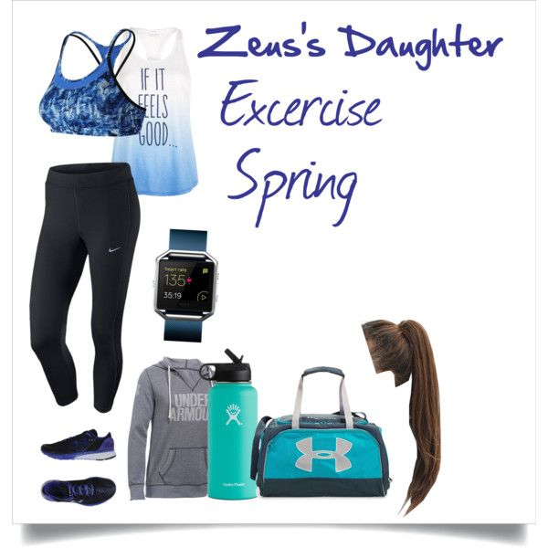 Zeus's Daughter Spring #6 by h-zita on Polyvore featuring NIKE, Lorna Jane, Under Armour, New Balance, Fitbit, Hydro Flask, percyjackson, pjo, Demigod and Zeus
