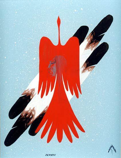 """Peyote""- Lee Joshua - Native American Church Art"