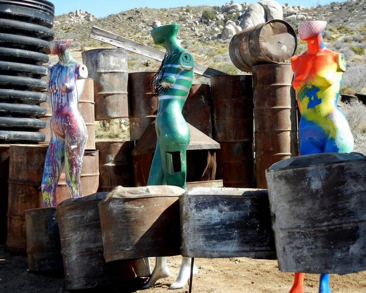 Yard Art from Oak Springs Ranch in San Bernadino California