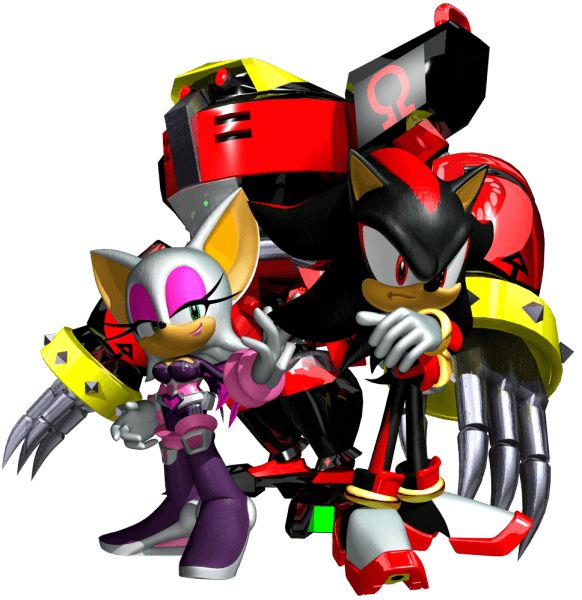 #Sonic Heroes Artwork Team Dark from the official artwork set for #SonicHeroes on PS2, Gamecube, XBOX and PC. #SonictheHedgehog. #Sonic. http://sonicscene.net/sonic-heroes