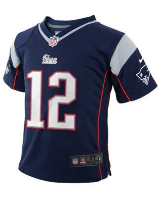 Nike Toddler Boys' Tom Brady New England Patriots Game Jersey - Blue 2T