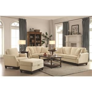 Sophisticated details impart this upholstery collection with dreamy transitional style. Sloped front track arms feature nailhead trim that draws the eye set again ultra plush velvet fabric. Box cushion seat with welt trim and solid wood legs and exposed base rail complete the look of each piece.
