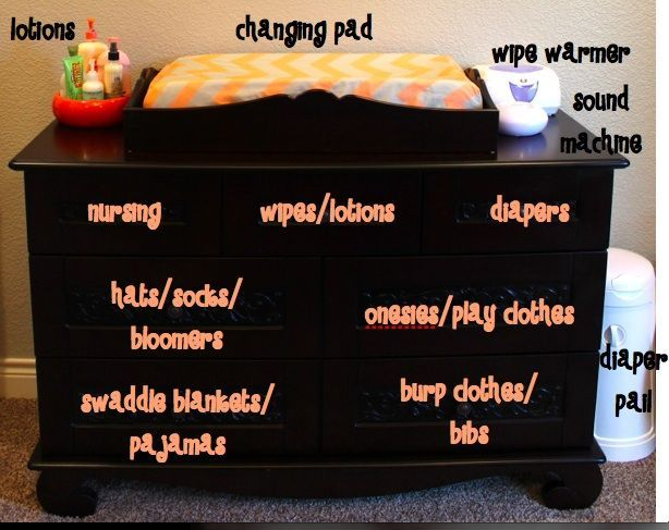 How to organize your baby's dresser- I may be reorganizing it for the 4th time...: