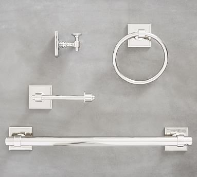 Pearson Fixtures, Set Of 4, Polished Nickel · Hall BathroomBathroom  FixturesMaster ...