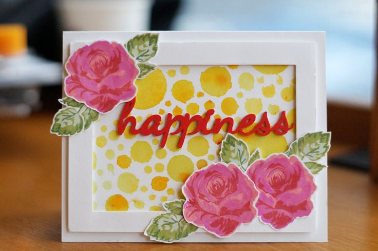 Seungeun Lee's craft room: Card 'happiness'