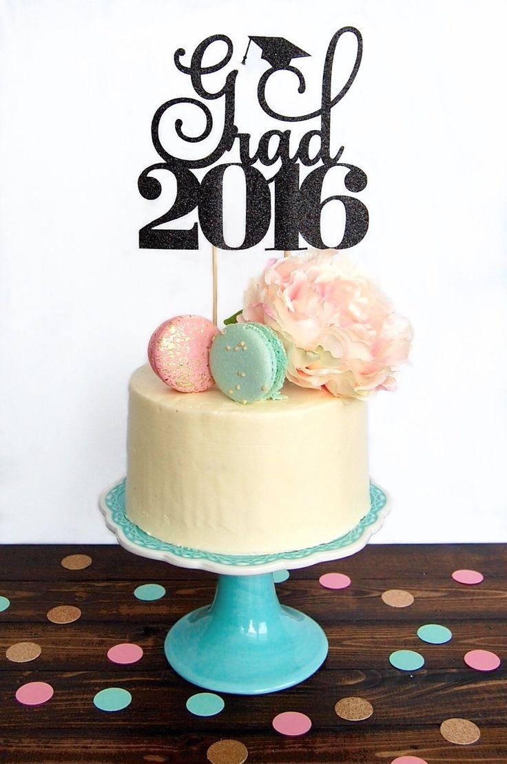 Cake topper graduation, graduation cake topper, graduation party decorations, graduation decorations, grad 2016 by CelebratedMoment on Etsy https://www.etsy.com/listing/268481594/cake-topper-graduation-graduation-cake