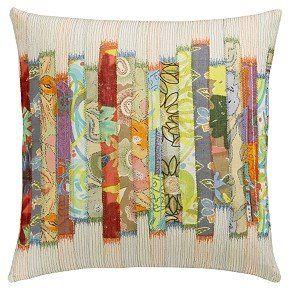 stripe quilt pillow