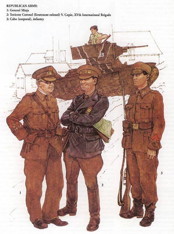Spanish Civil War. Republican Army