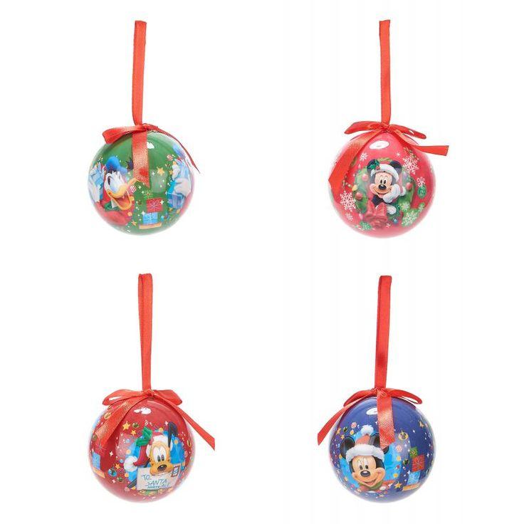 Un Noël aux couleurs de votre dessin animé préféré ! Ce lot se compose de 4 boules de Noël Mickey™ sous licence officielle Disney™. - 1 boule de couleur verte avec le personnage de Donald  - 1 boule de couleur bleue avec le personnage de Mickey  - 1 boule