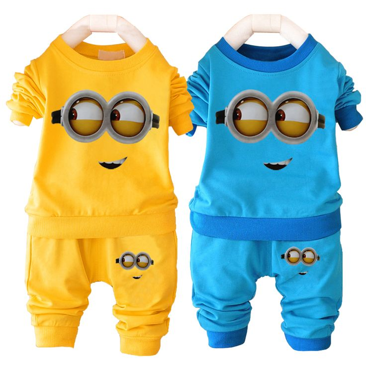 Unisex baby boys girl clothes despicable me minion baby clothing set name brand children clothing sets casual infant sport suit #>=#>=#>=#>=#> Click on the pin to check out discount price, color, size, shipping, etc. Save and like it!