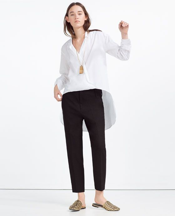 Image 1 of ASYMMETRIC CROSSOVER BLOUSE from Zara