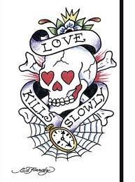 ed hardy tattoos designs love kills slowly