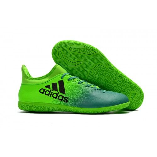 2017 Adidas X 16.3 IC Botas De Futbol Verde Negro