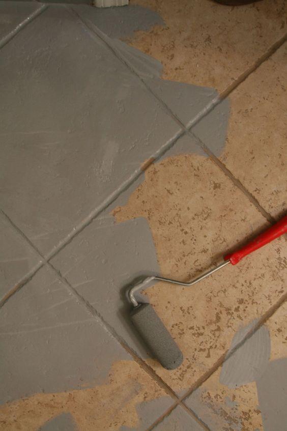 Painting Ceramic Tile Via Little Green Notebook