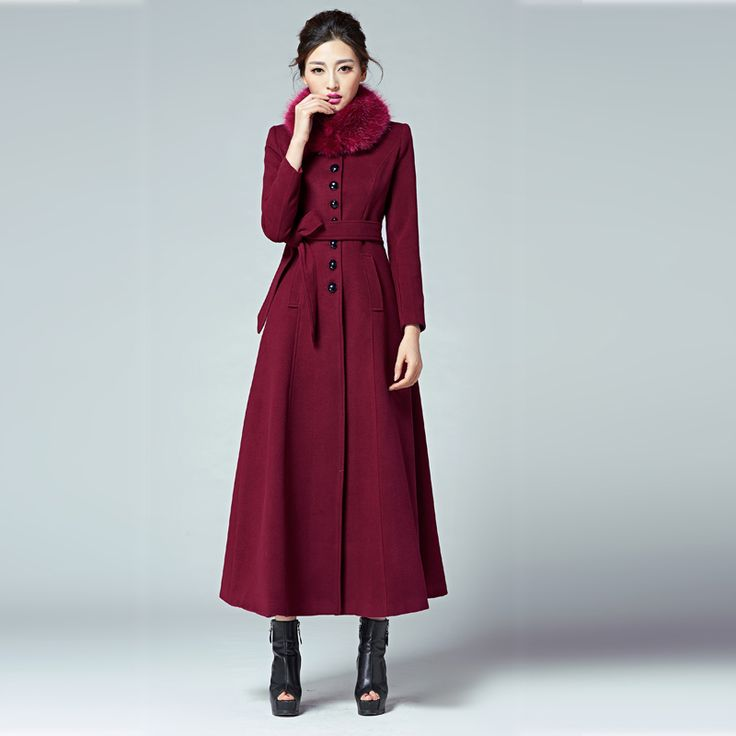 Find More Wool & Blends Information about 2016 Womens Winter Wool Blend Long Sections Coat Slim Fit fur Super Long Coat Lapel Overcoat Trench red women coat,High Quality coat winter women,China womens long coat Suppliers, Cheap coat zipper from Mandy shopping mall on Aliexpress.com