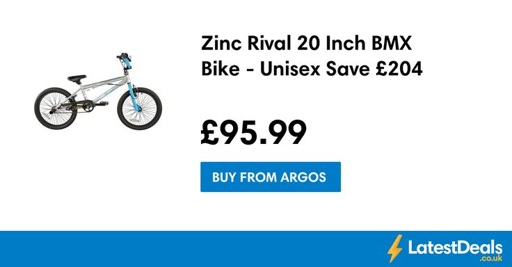 Zinc Rival 20 Inch BMX Bike - Unisex Save £204, £95.99 at Argos