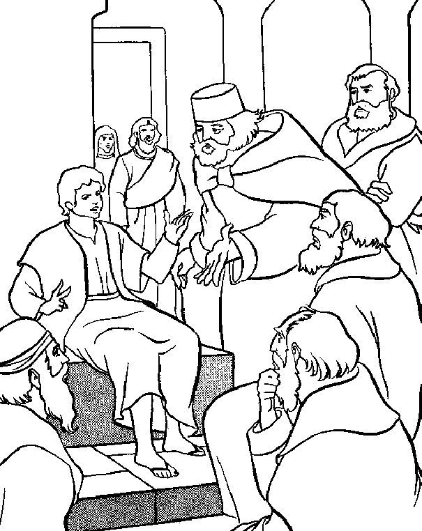 coloring pages of jesus teaching - photo#24