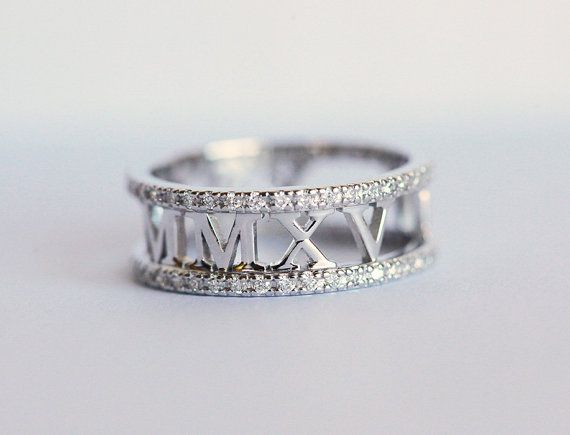 Eternity Wedding Band Pave Diamond Wedding Band White by capucinne