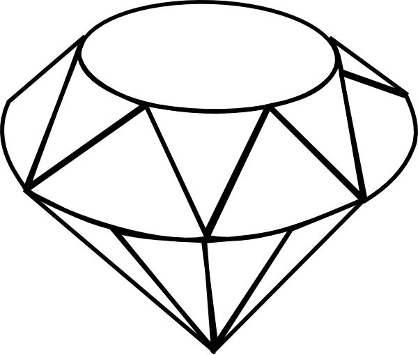 Diamond Line Drawing - shape inspiration | Diamond Hat | Pinterest ...