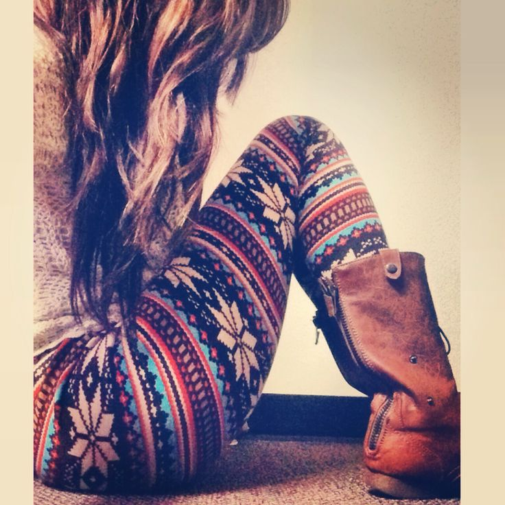Tribal leggings and boots for winter