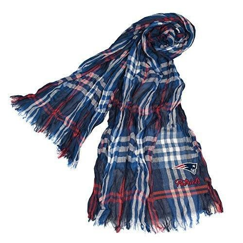 Nfl Patriots Scarf 70 X 25 Football Themed Woman Accessory Sports Patterned Team Logo Fan Merchandise Athletic Team Spirit Fan Blue Red White Polyester