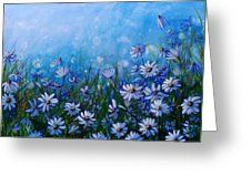 Daisies In Profusion  Greeting Card by Laura Wilson