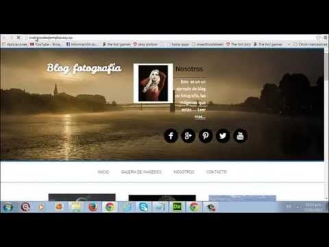 Ejemplo de diseño web para un blog fotográfico. #diseñoweb #wordpress #genesisframeowek #blog #blogs #diseñodeblog