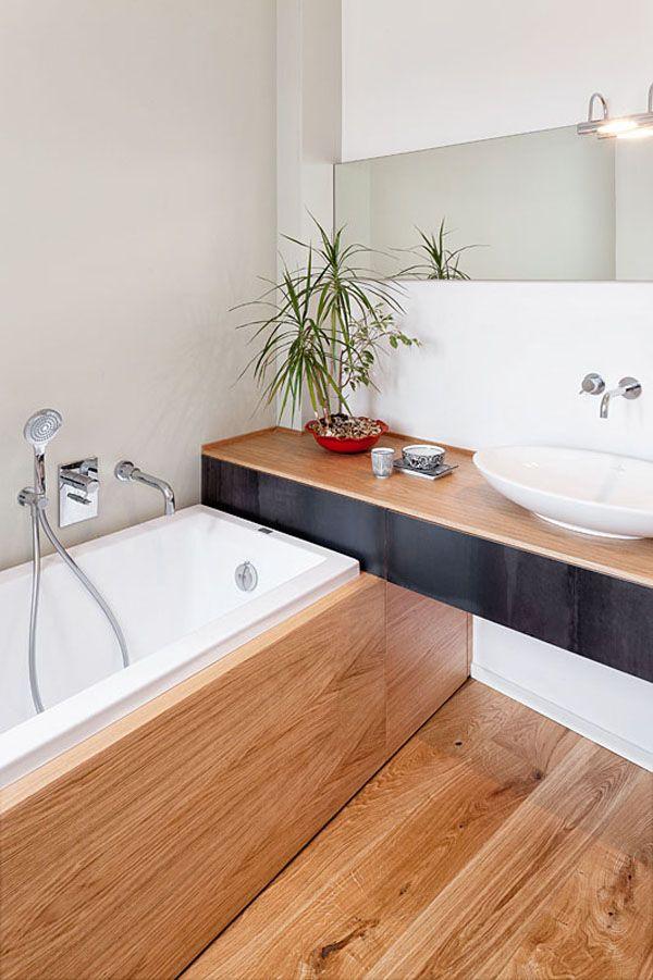Verlängerung Waschtisch am Kopfende der Badewanne