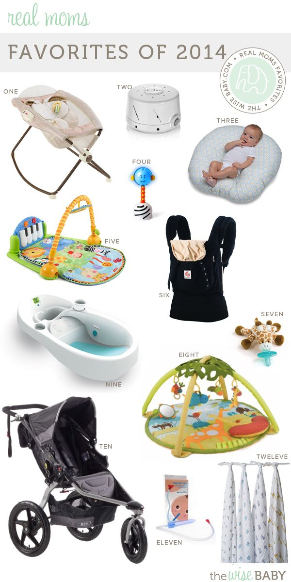 Real Moms Favorite Baby Products 2014 - we combed all 50+ real mama posts and these products make the list time and time again!