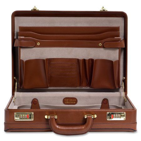 "McKleinUSA Leather 4.5"" Expandable Attache Briefcase (80464) Image 3 of 5"
