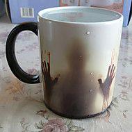 1C Newest Design Zombie Color Changing Coffee Mug Heat Senstive Magic Tea cup Mugs Walking Dead Bloody hands gift – USD $ 24.27