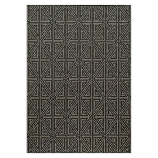 Add distinguished style to your home décor with the indoor / outdoor diamond rug. Made of 100% polypropylene, this area rug has a low pile cut. The rug has a geometric design and is machine woven. Available in a variety of colors and standard sizes.