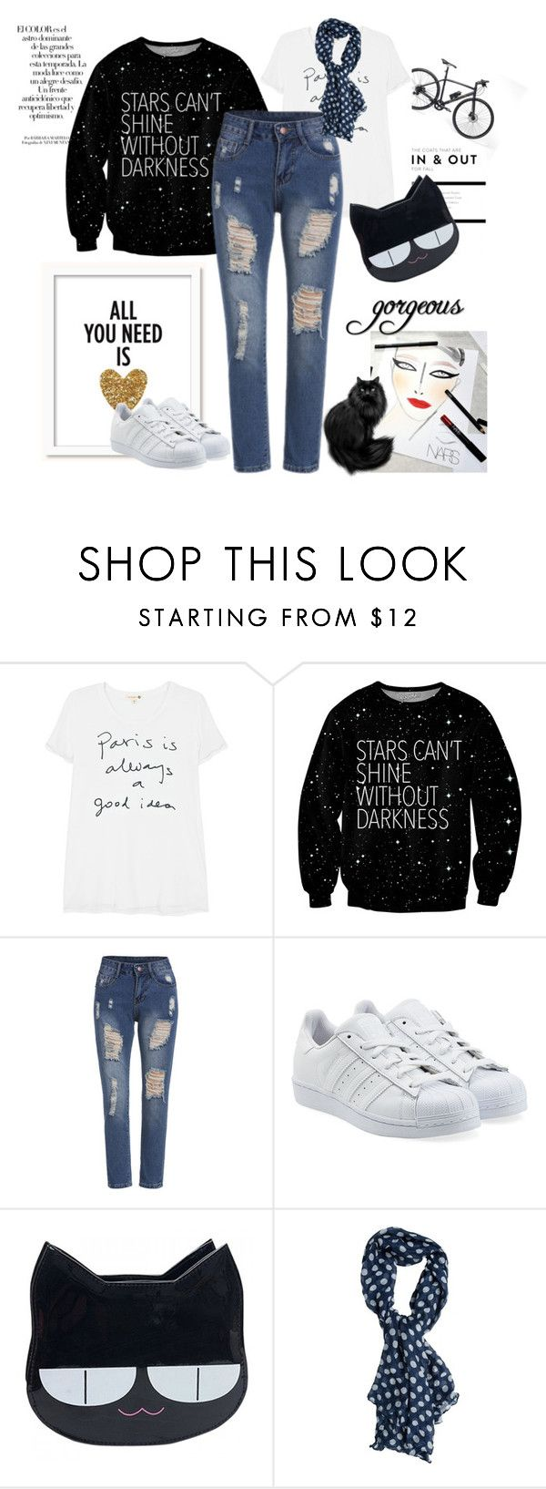 """""""Stars Can't Shine Without Darkness"""" by freisstea on Polyvore featuring Arco, Gucci, Sundry, adidas Originals, Creatures Of The Wind and Swell"""