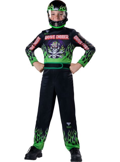 Boys Max-D Driver Costume - Monster Jam - Party City
